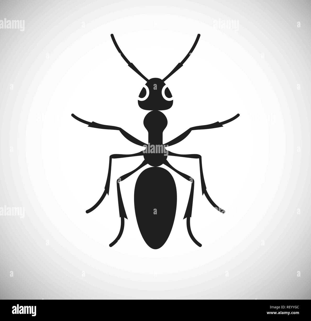 Ant Insect icon on white background for graphic and web