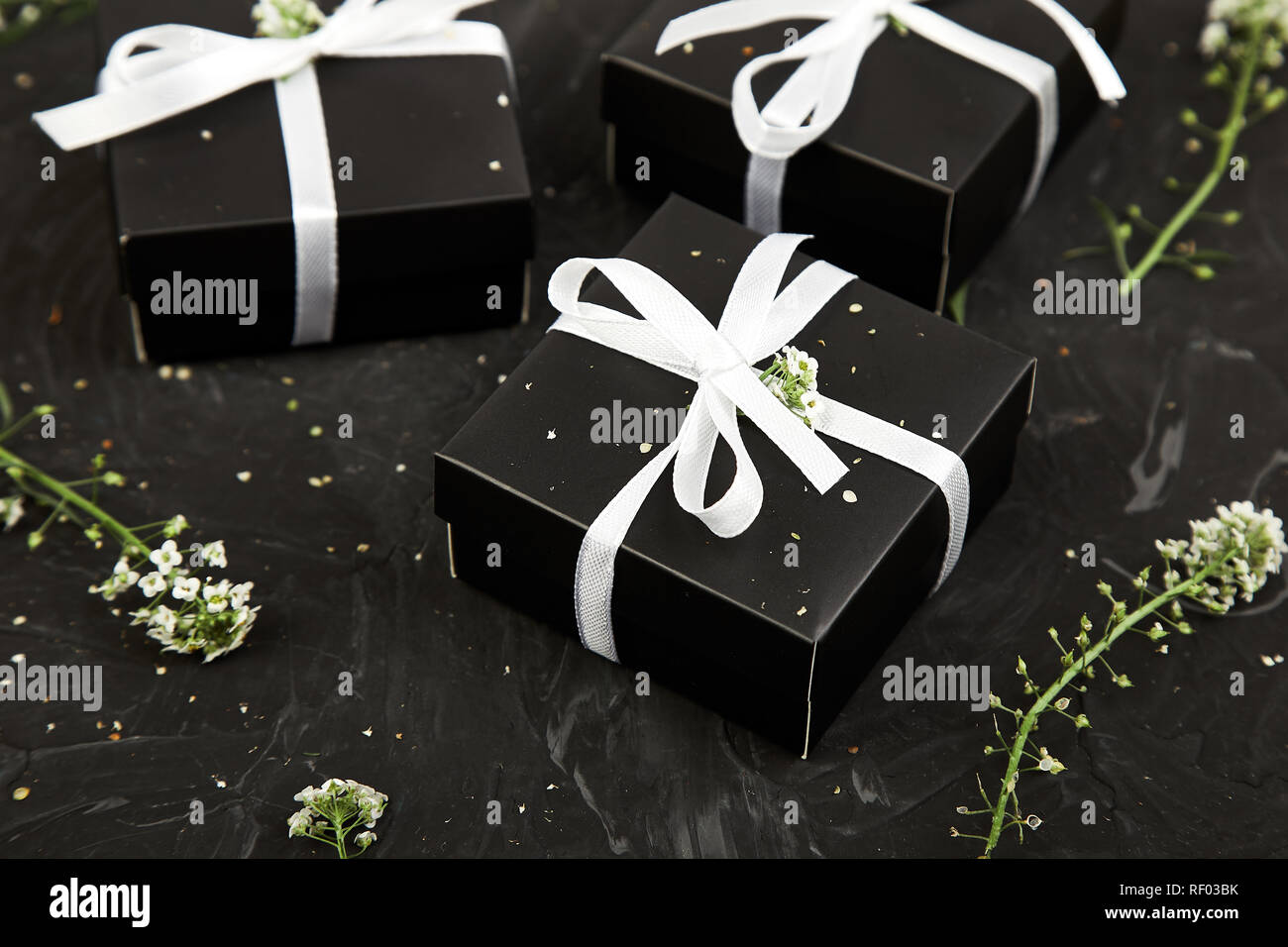 Spring Concept Wrapping Modern Christmas Or Birthday Gifts Presents