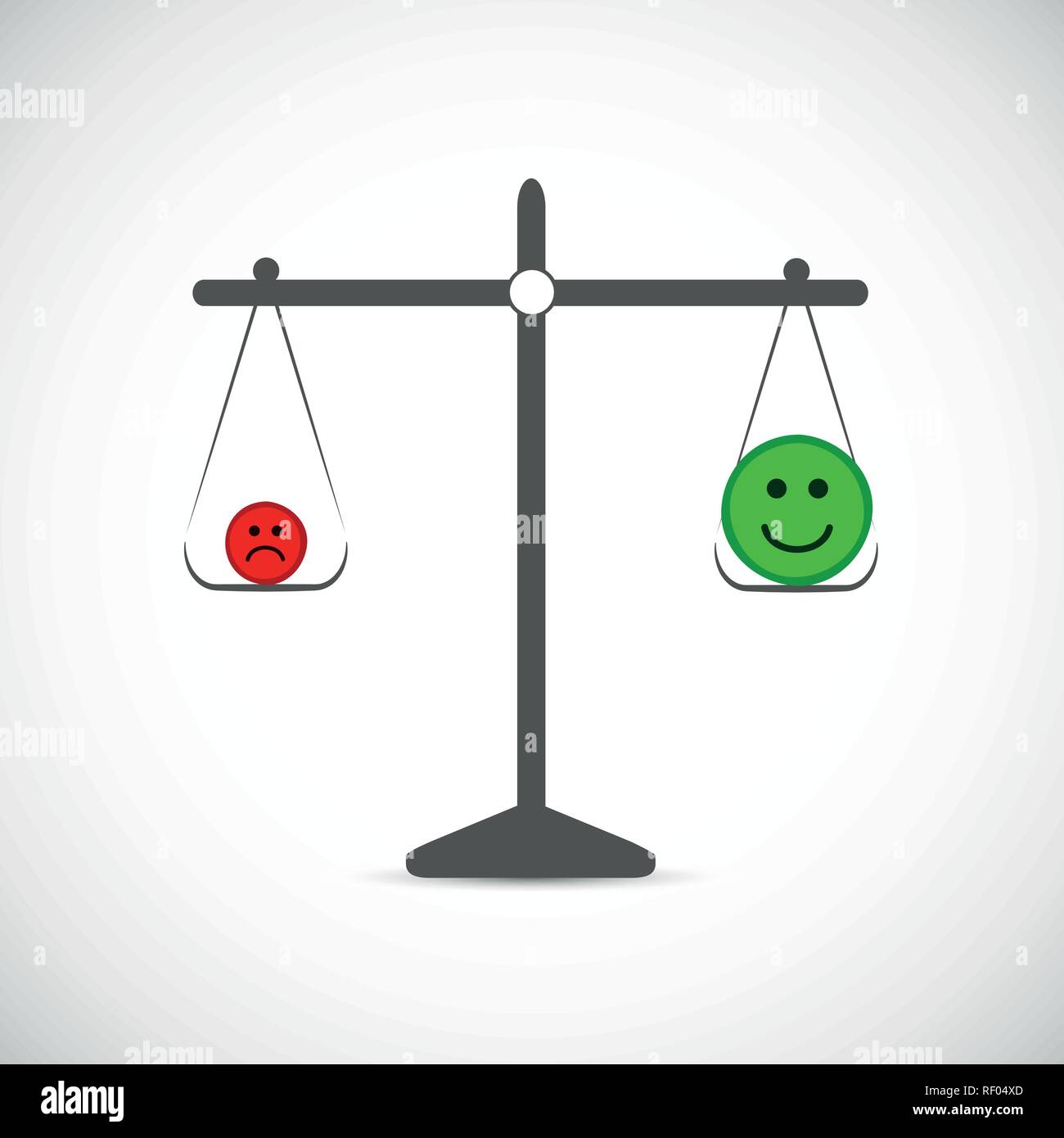more positive thinking in a libra vector illustration EPS10 - Stock Vector