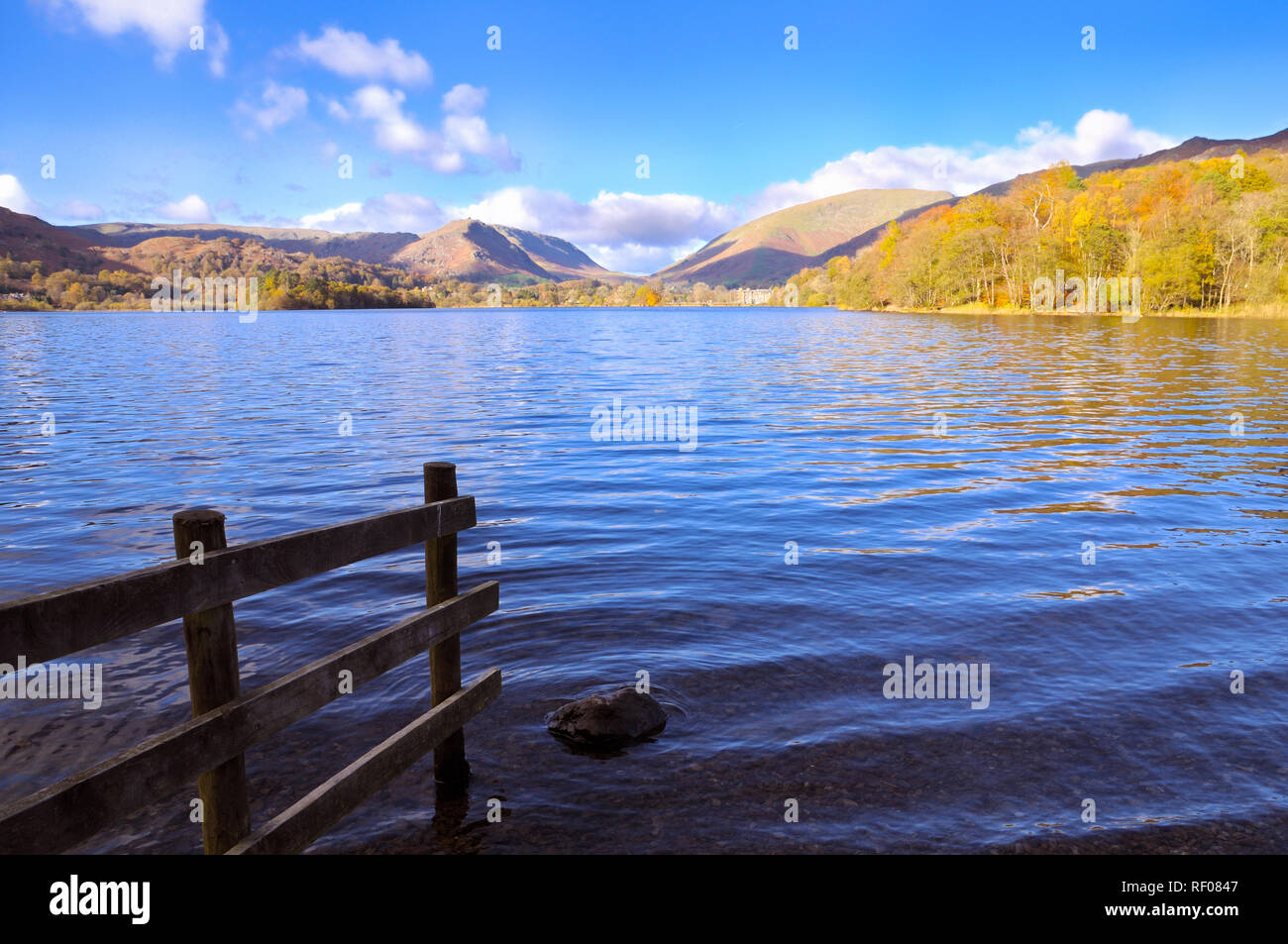 View from the shores of Grasmere, Lake District, England, UK - Stock Image