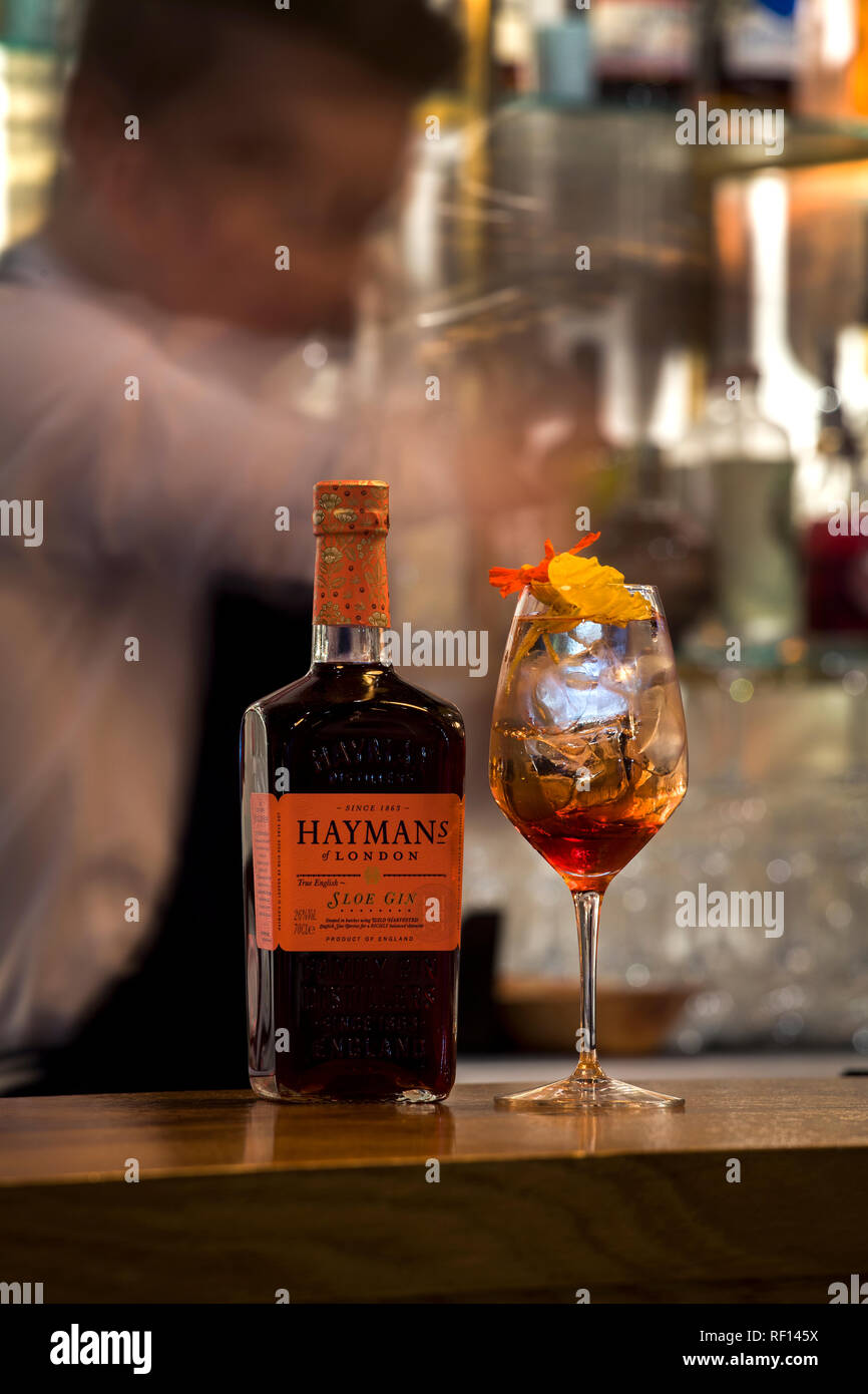 Gin cocktail - Stock Image