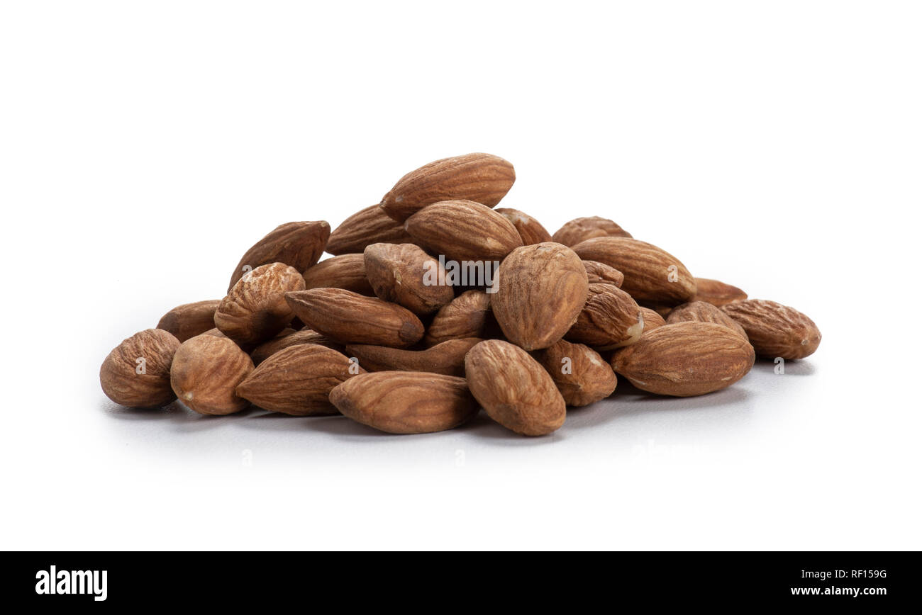 Pile Of Whole Almonds - Stock Image
