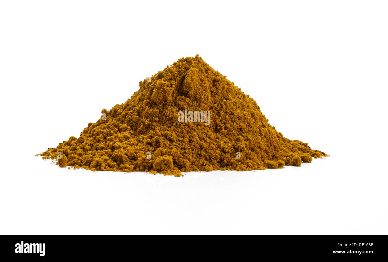 Pile Of Curry Powder - Stock Image
