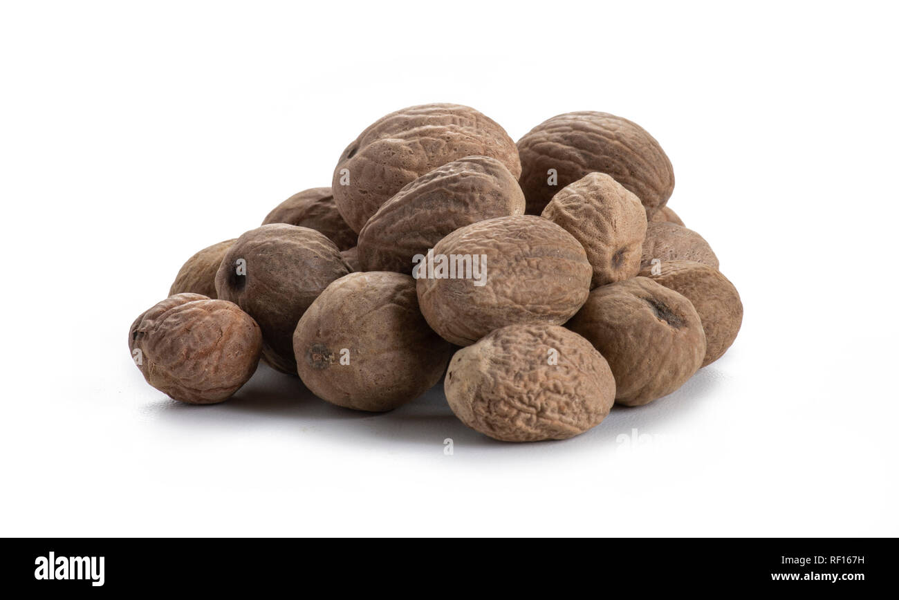 Whole Nutmeg - Stock Image
