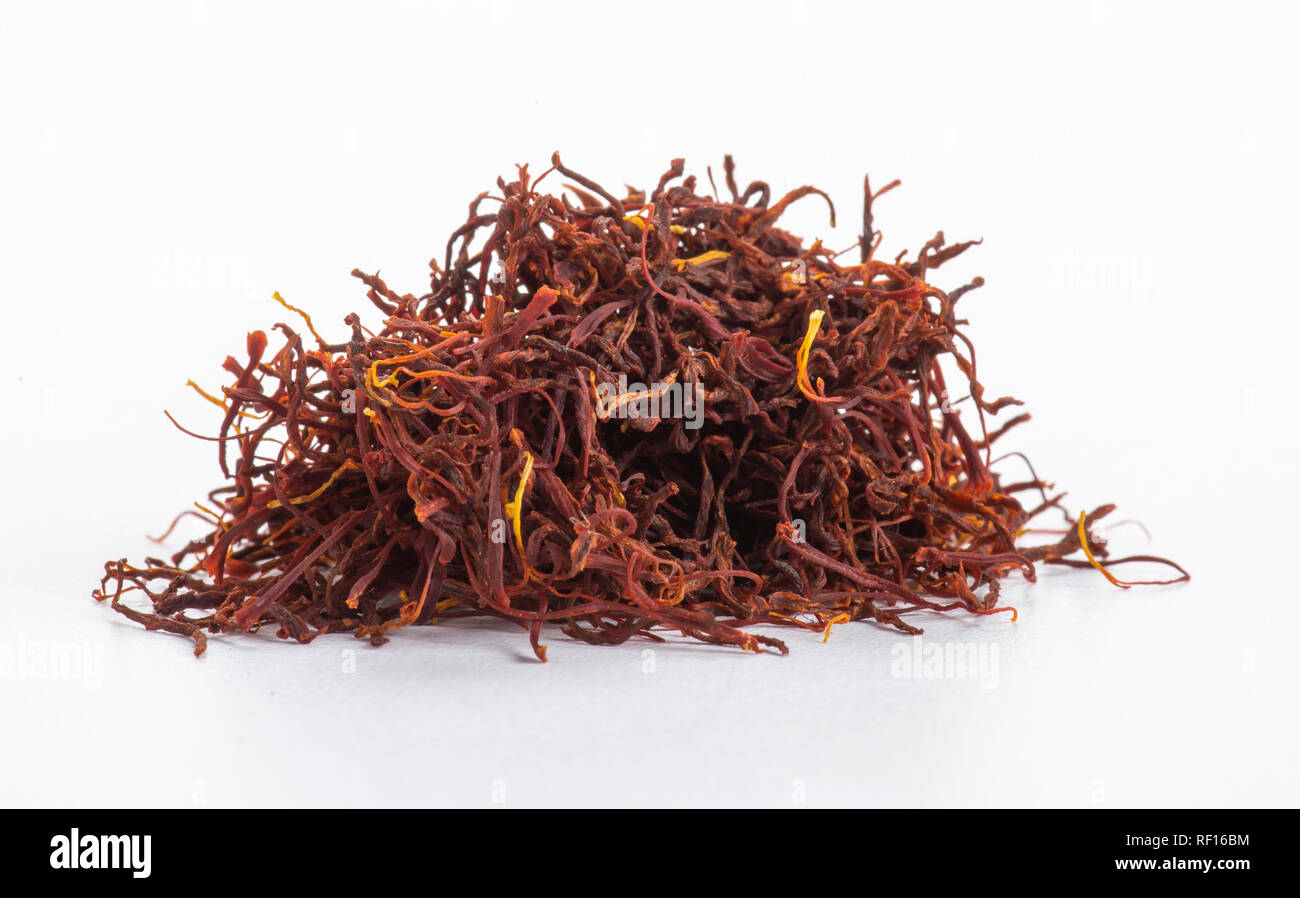 Pile Of Kashmiri Saffron - Stock Image