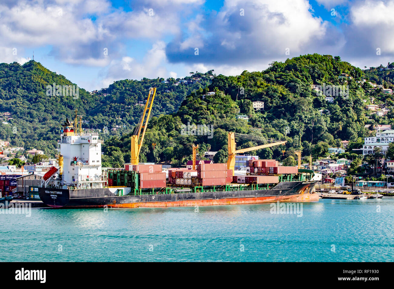 Castries  Saint Lucia one of the Windward Island in the Caribbean. - Stock Image