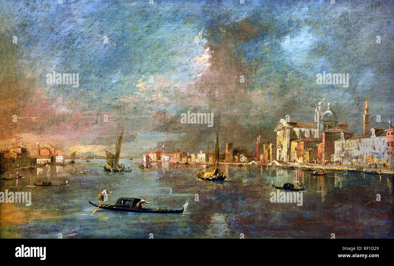 View of the Giudecca with the Zattere  1780 Francesco GUARDI, 1712 – 1793, Venice, Venetian, Italy, Italian, - Stock Image