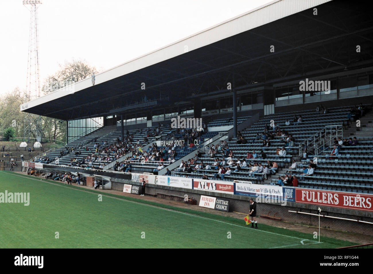 General view of Fulham FC Football Ground, Craven Cottage, Fulham, London, pictured on 27th May 1991 - Stock Image