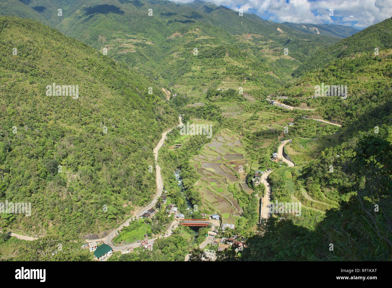 The beautiful UNESCO rice terraces in Hapao, Banaue, Mountain Province, Philippines - Stock Image