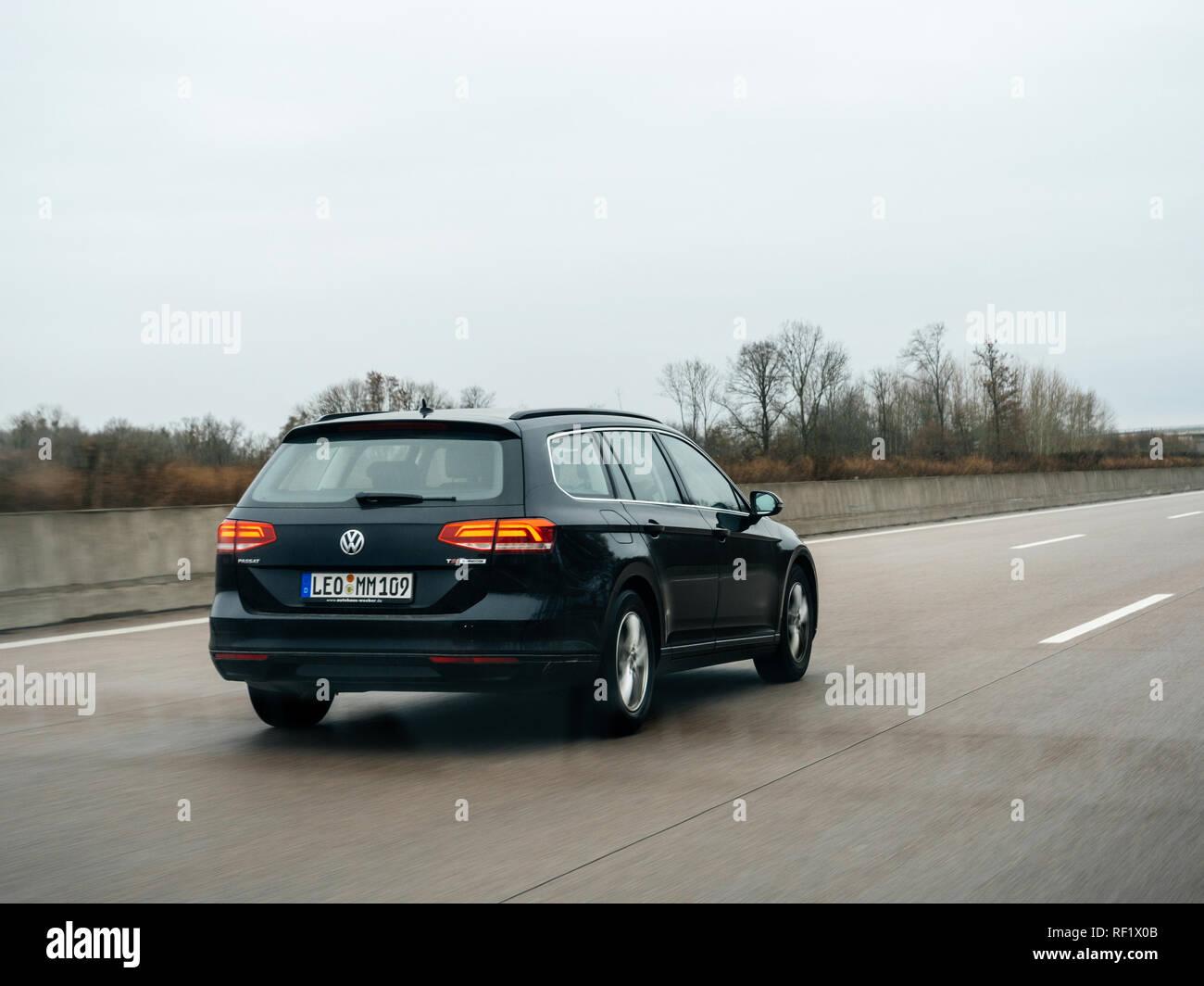 Fast In German >> Berlin Germany Feb 11 2018 Fast Driving Volkswagen