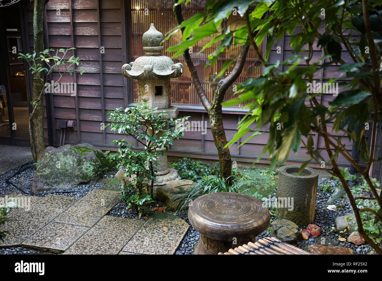 Delicieux Small Japanese Garden In Kanazawa, Japan Stock Photo ...