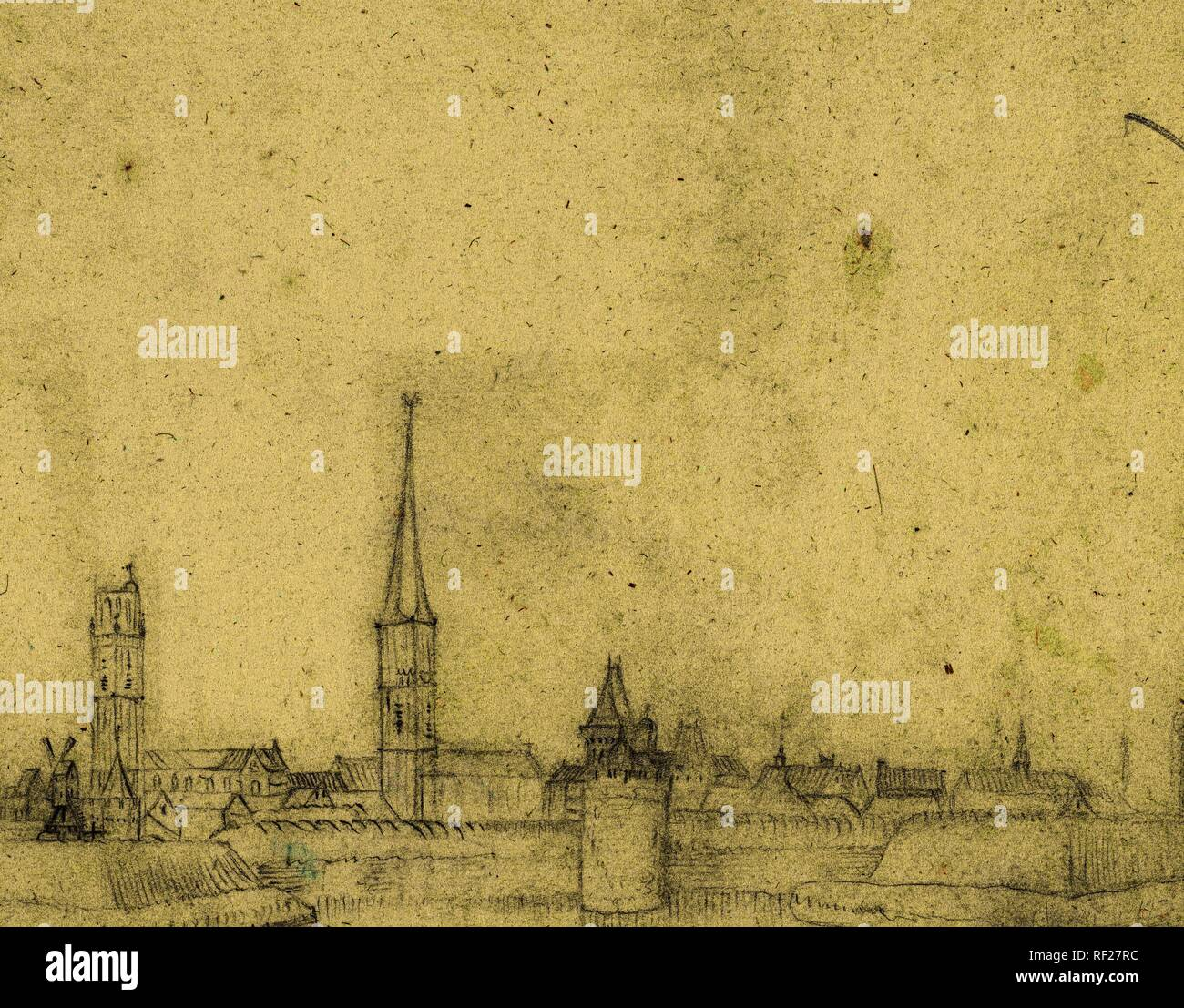 View of Zwolle, from the south. Draughtsman: Harmen ter Borch. Draughtsman: