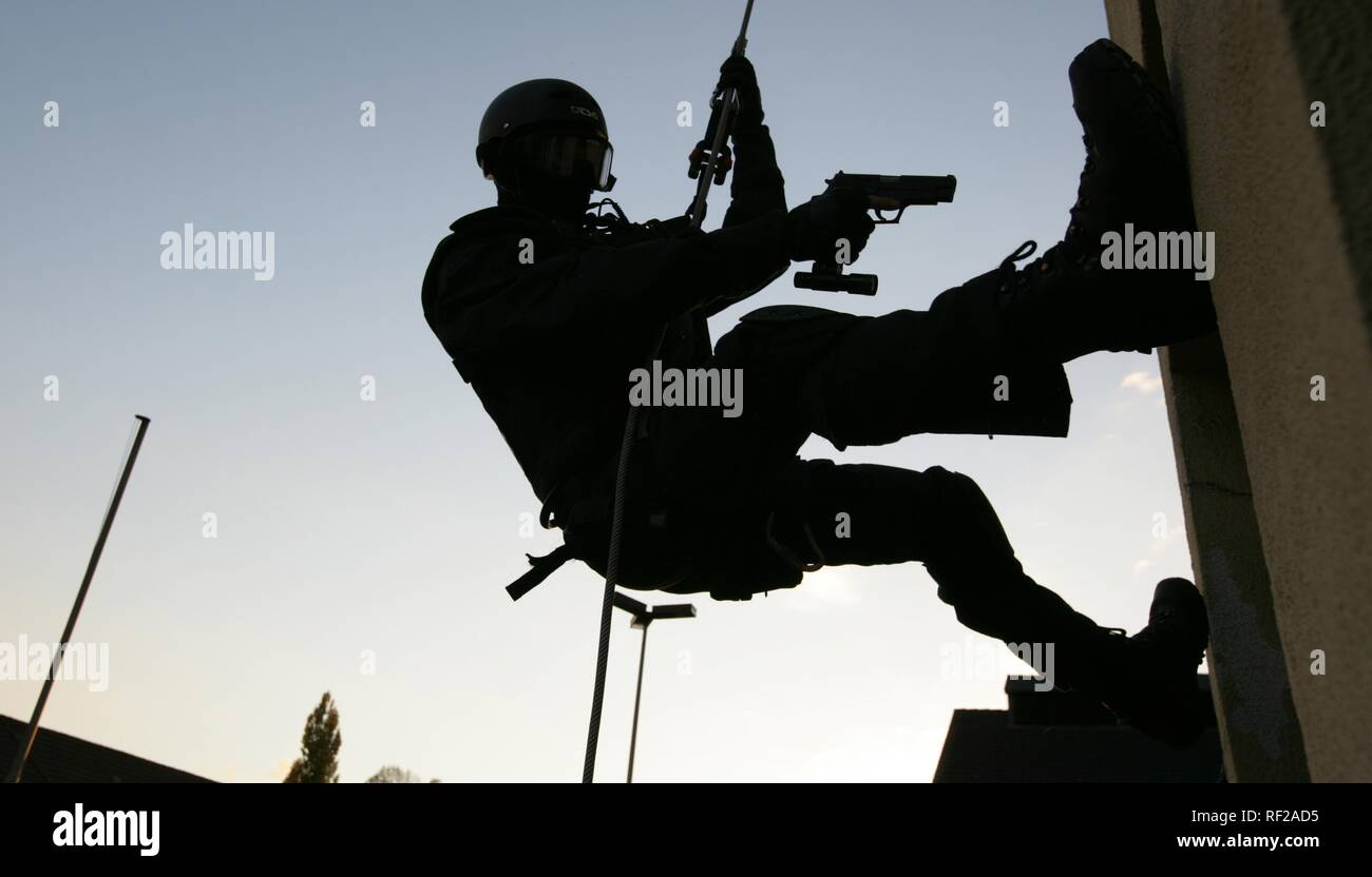 Operational exercise of a new SWAT police command, North Rhine-Westphalia Stock Photo