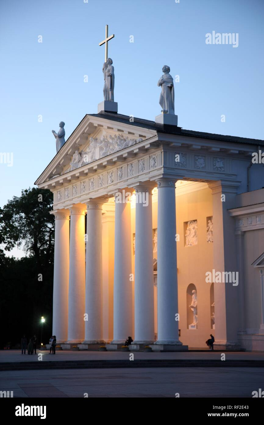 St. Stanislaus Cathedral on Cathedral Square, Vilnius, Lithuania, Baltic States, Northeastern Europe - Stock Image