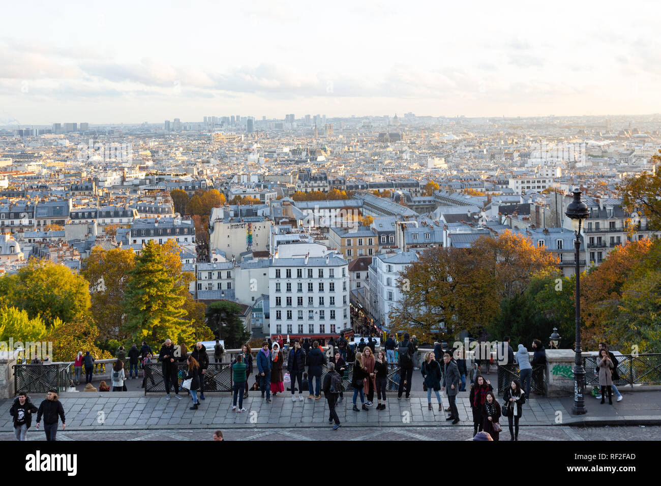 Paris (France) - View from Montmartre hill Stock Photo