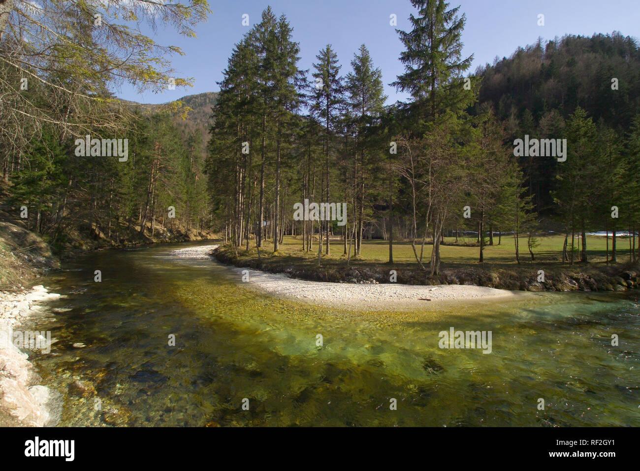 Oberösterreich, Schiederweiher bei Hinterstoder - Upper Austria, Schiederweiher near Hinterstoder Stock Photo