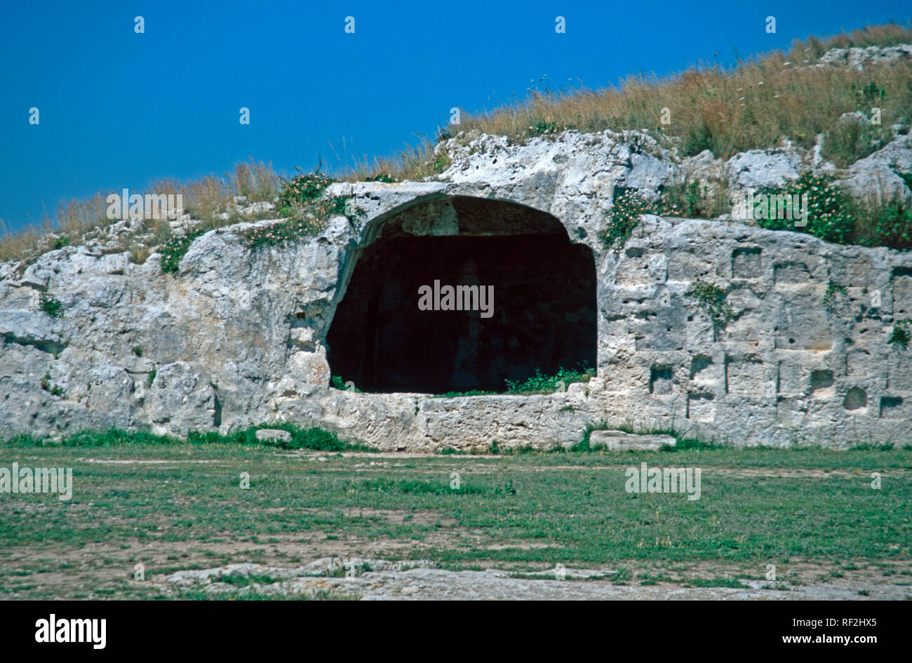 Sicily Europe Siracusa City Votive Niches (Hellenistic) - Stock Image