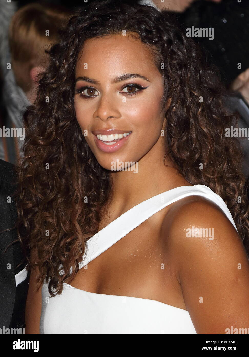 London, UK. 22nd Jan, 2019. Rochelle Humes seen on the red carpet during the National Television Awards at the O2, Peninsula Square in London. Credit: Keith Mayhew/SOPA Images/ZUMA Wire/Alamy Live News - Stock Image