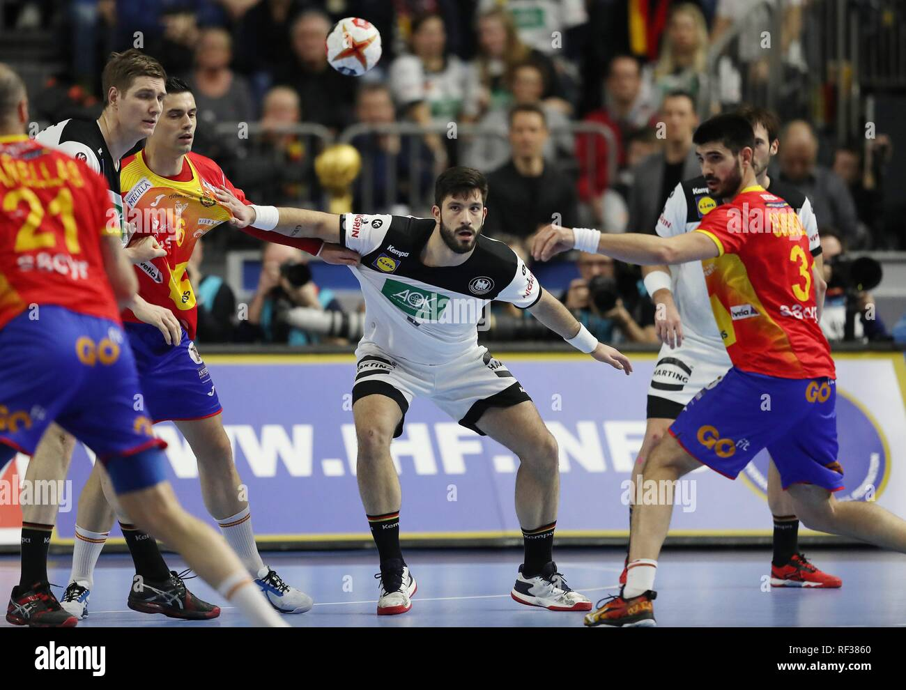 firo: 23.01.2019, Handball: World Cup World Cup Main Round Germany - Spain tim suton, ger | usage worldwide - Stock Image