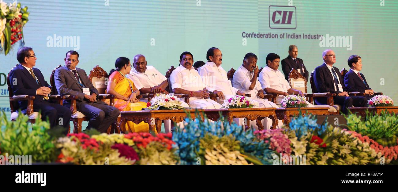 India, Chennai, January, 24, 2019: TAMIL NADU GLOBAL INVESTORS MEET