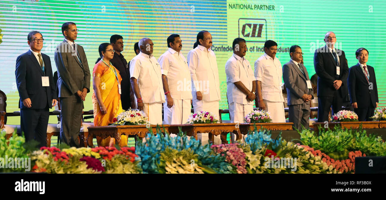 India, Chennai, January, 24, 2019: TAMIL NADU GLOBAL