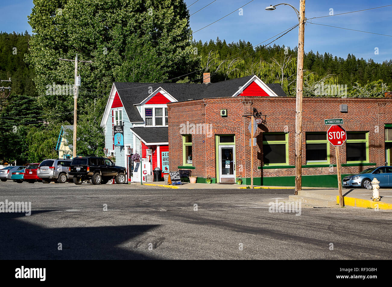 Downton Roslyn, Washington State, USA - Stock Image