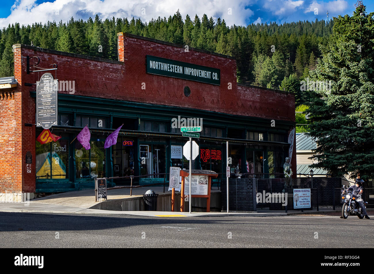 Downtown Roslyn, Washington State, USA - Stock Image