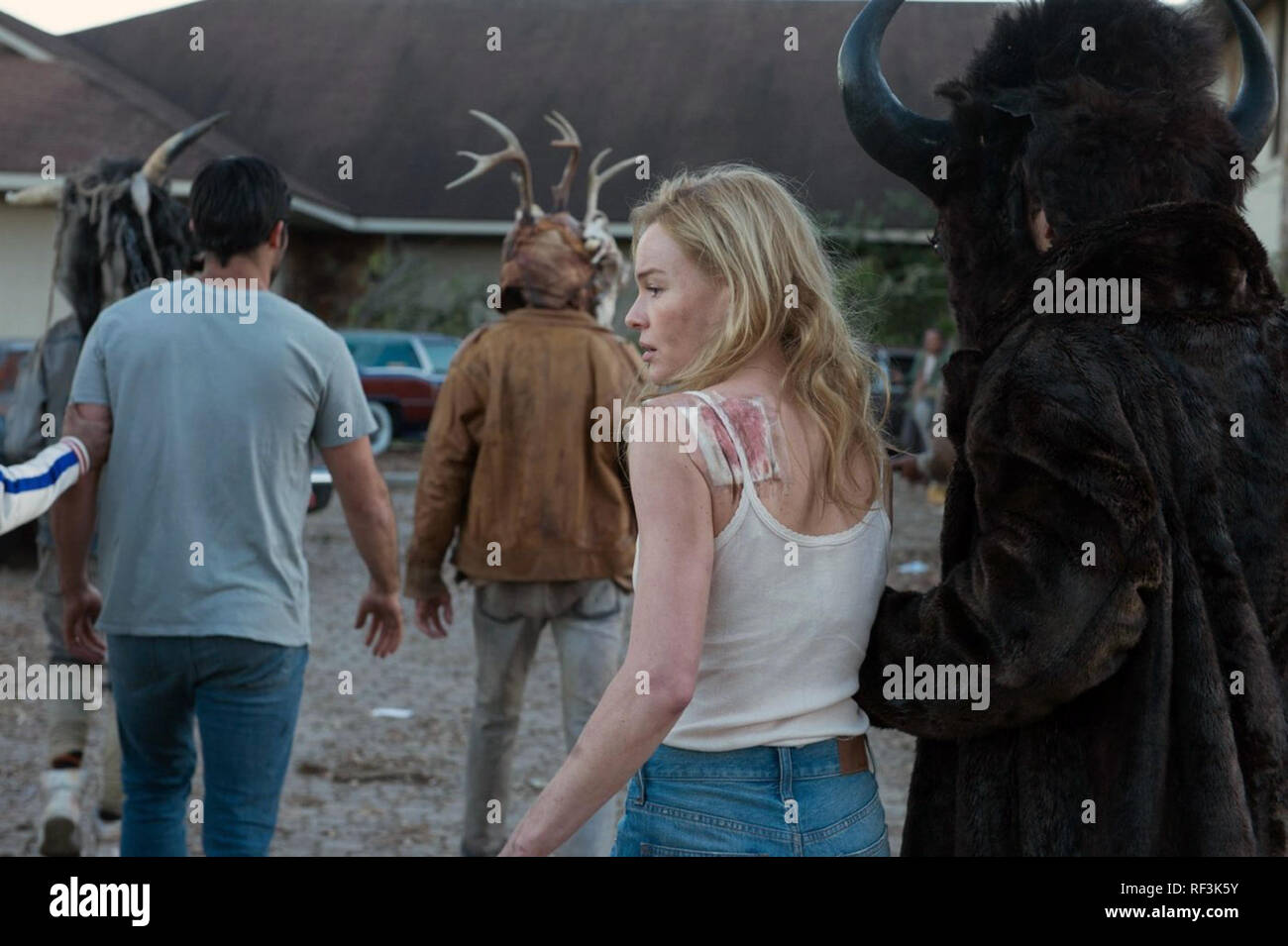 The Domestics is a 2018 American post-apocalyptic horror film directed and written by Mike P. Nelson. The film stars Kate Bosworth, and Tyler Hoechlin.    This photograph is for editorial use only and is the copyright of the film company and/or the photographer assigned by the film or production company and can only be reproduced by publications in conjunction with the promotion of the above Film. A Mandatory Credit to the film company is required. The Photographer should also be credited when known. - Stock Image