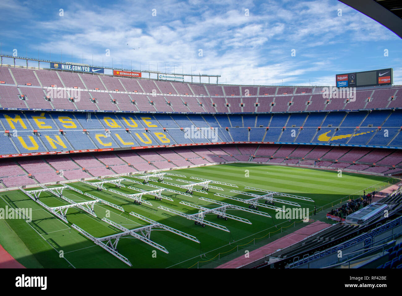 Camp Nou Stock Photo