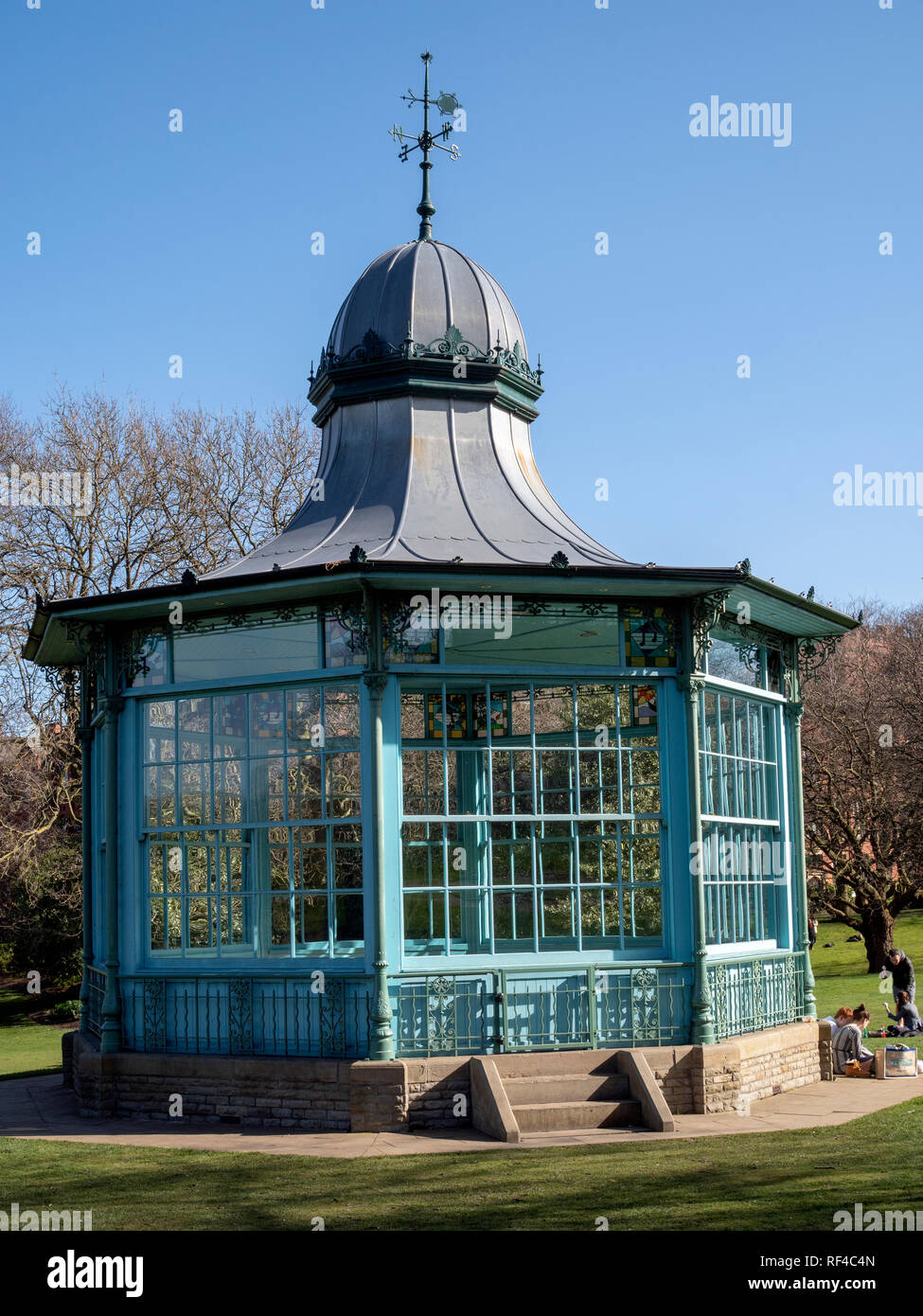 Bandstand in Weston Park, Sheffield, South Yorkshire, England, UK. - Stock Image