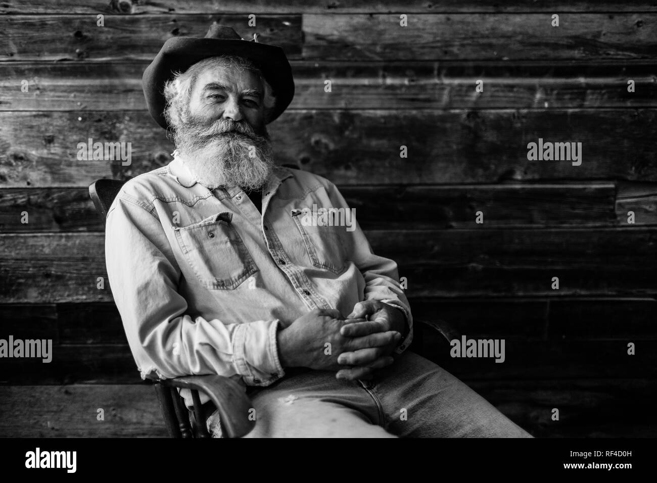 Old Man Rocking Chair High Resolution Stock Photography And Images Alamy