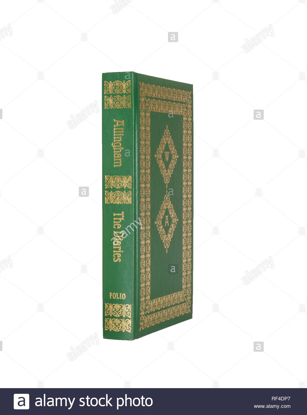 Folio Society edition of the Diaries of William Allingham, isolated on pure white background. Stock Photo