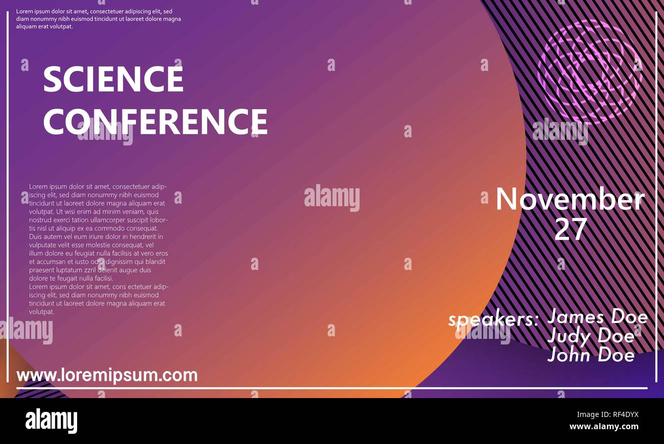 Science Conference Invitation Design Template Flyer Layout