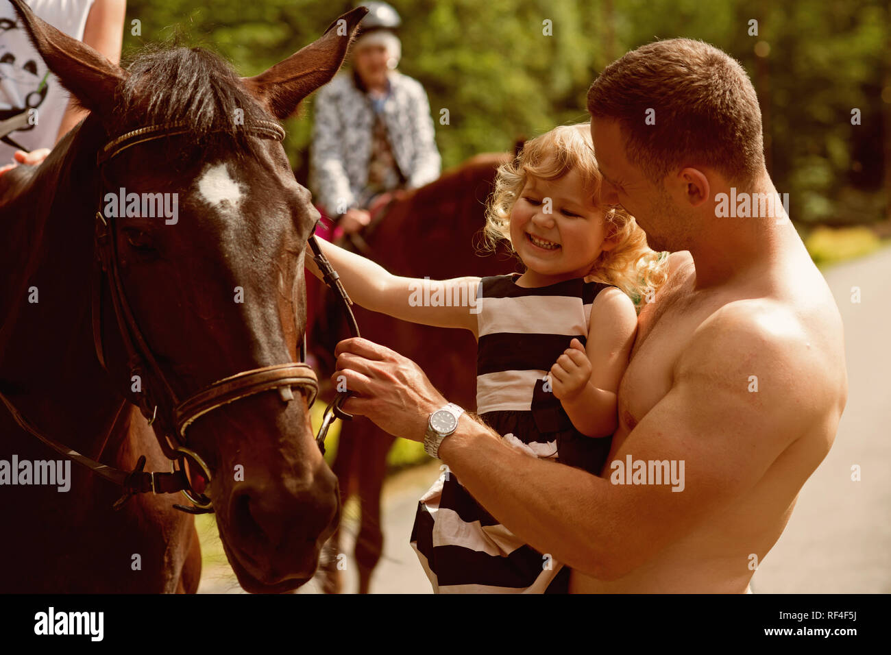 Equine therapy, recreation concept - Stock Image