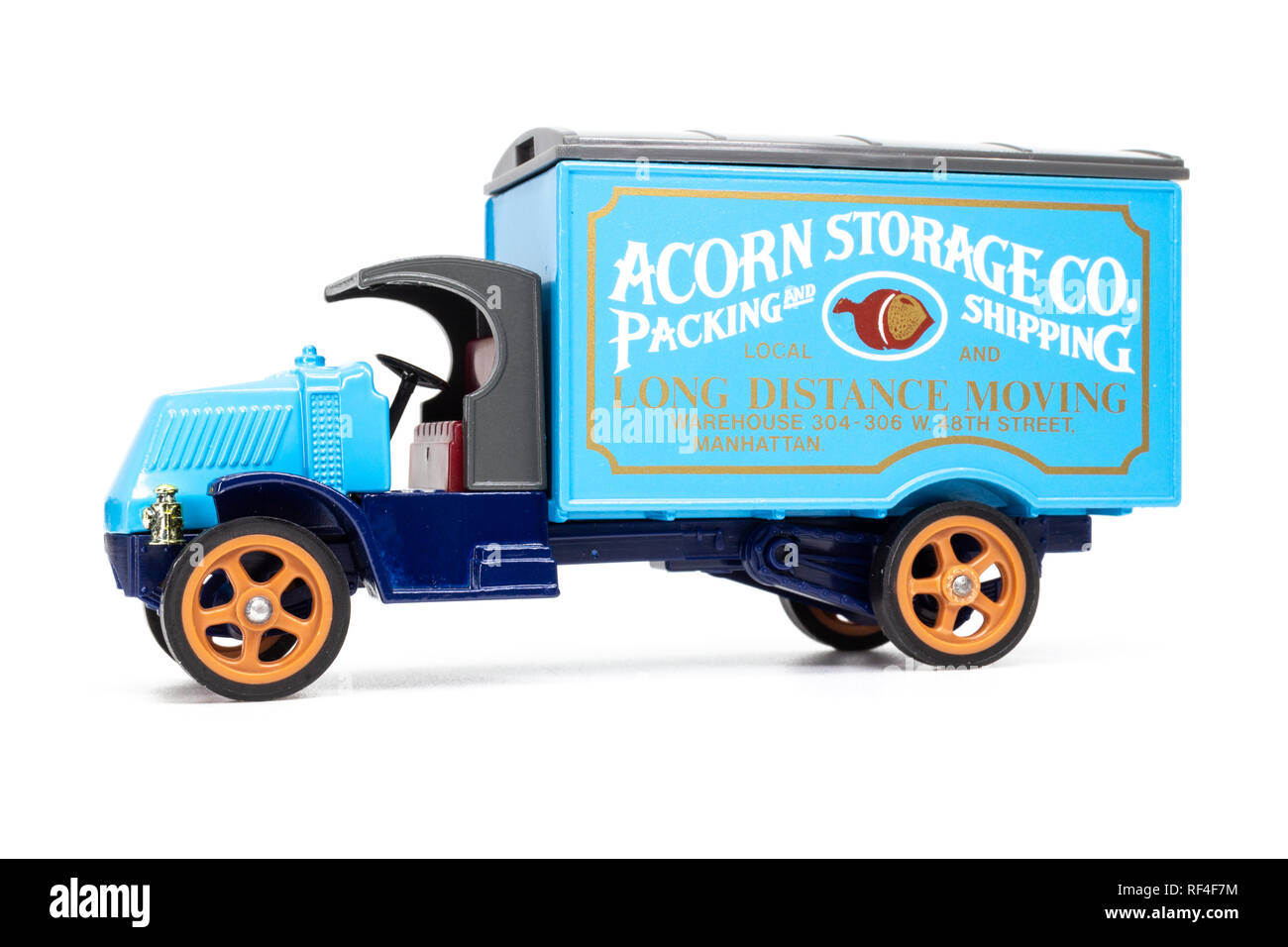 Matchbox Models of Yesteryear Y-30 Mack model AC truck 1920 - Acorn Storage side view - Stock Image