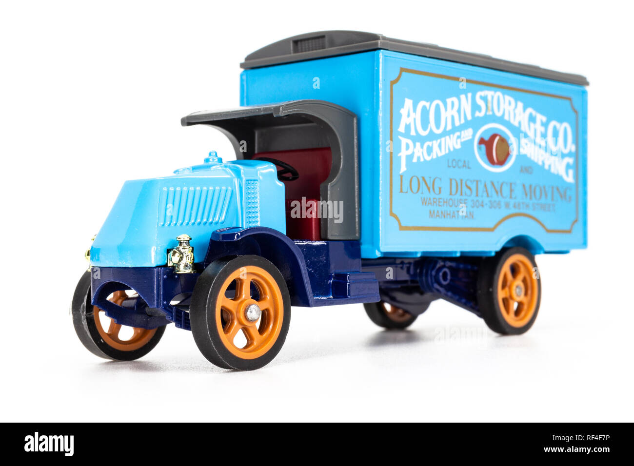 Matchbox Models of Yesteryear Y-30 Mack model AC truck 1920 - Acorn Storage - Stock Image