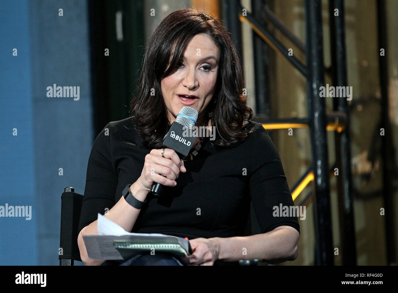 New York, USA. 09 Mar, 2015. Moderator, Michelle Caruso Cabrera visits The Monday, Mar 9, 2015 AOL BUILD Series at BUILD Studio in New York, USA. Credit: Steve Mack/S.D. Mack Pictures/Alamy Stock Photo