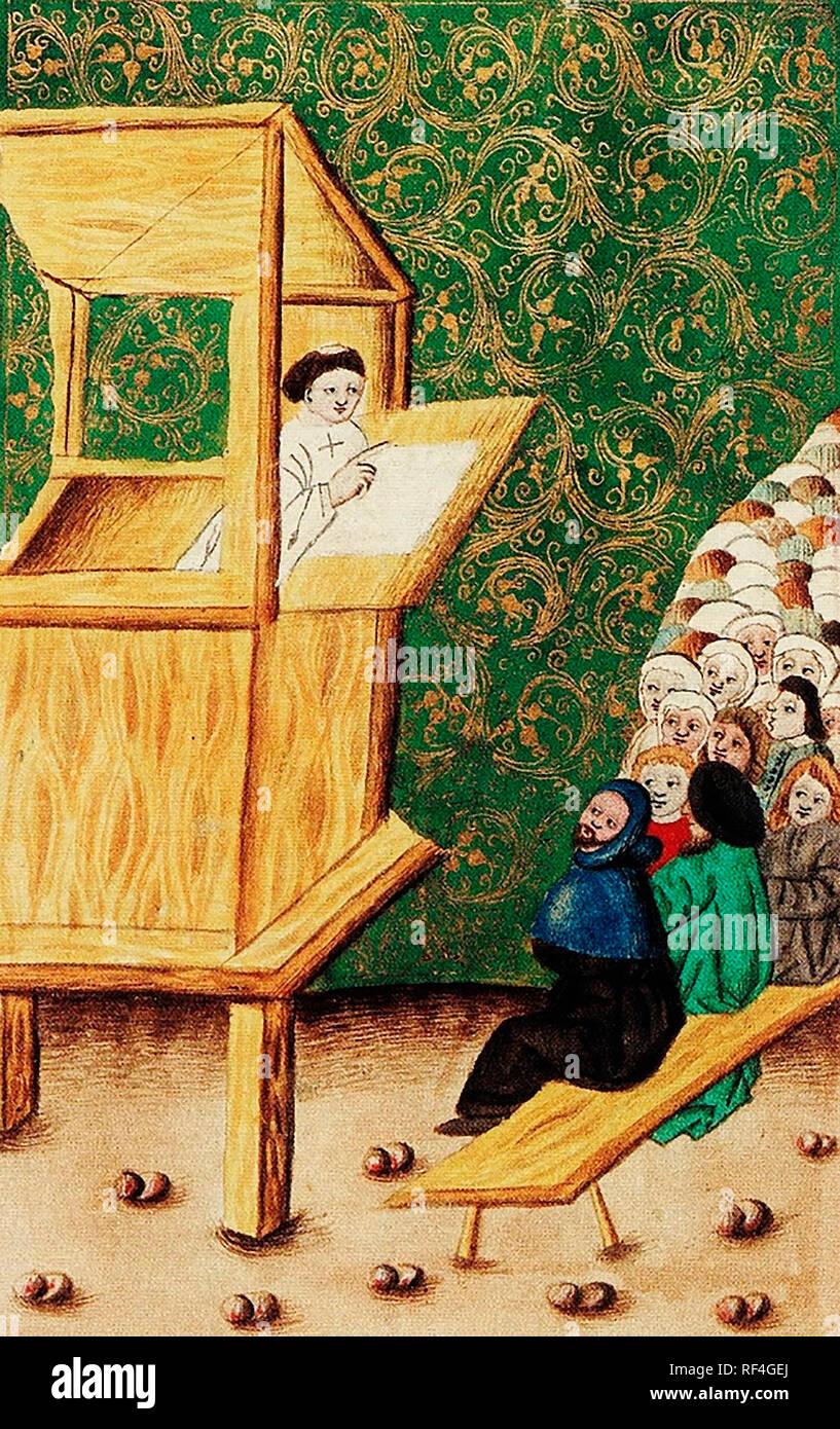 John Hus preaching. - Stock Image