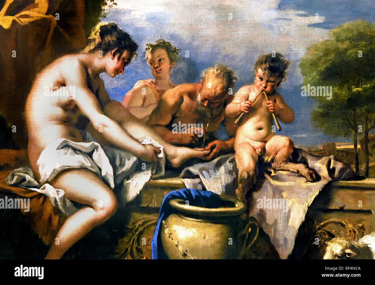 Nymphs and satyrs 1712 - 1716 Sebastiano Ricci Anthony -Sebastiano Ricci Antoine 1659-1734 Italy Italian Stock Photo