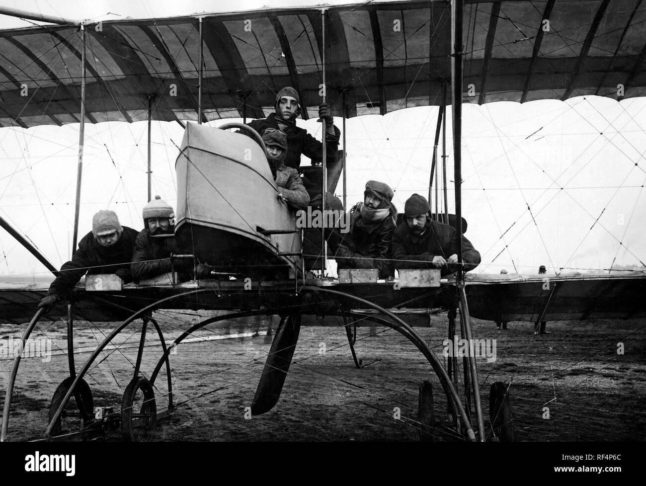 leipzig, joseph sablatnig, flight world record, 1911 Stock Photo