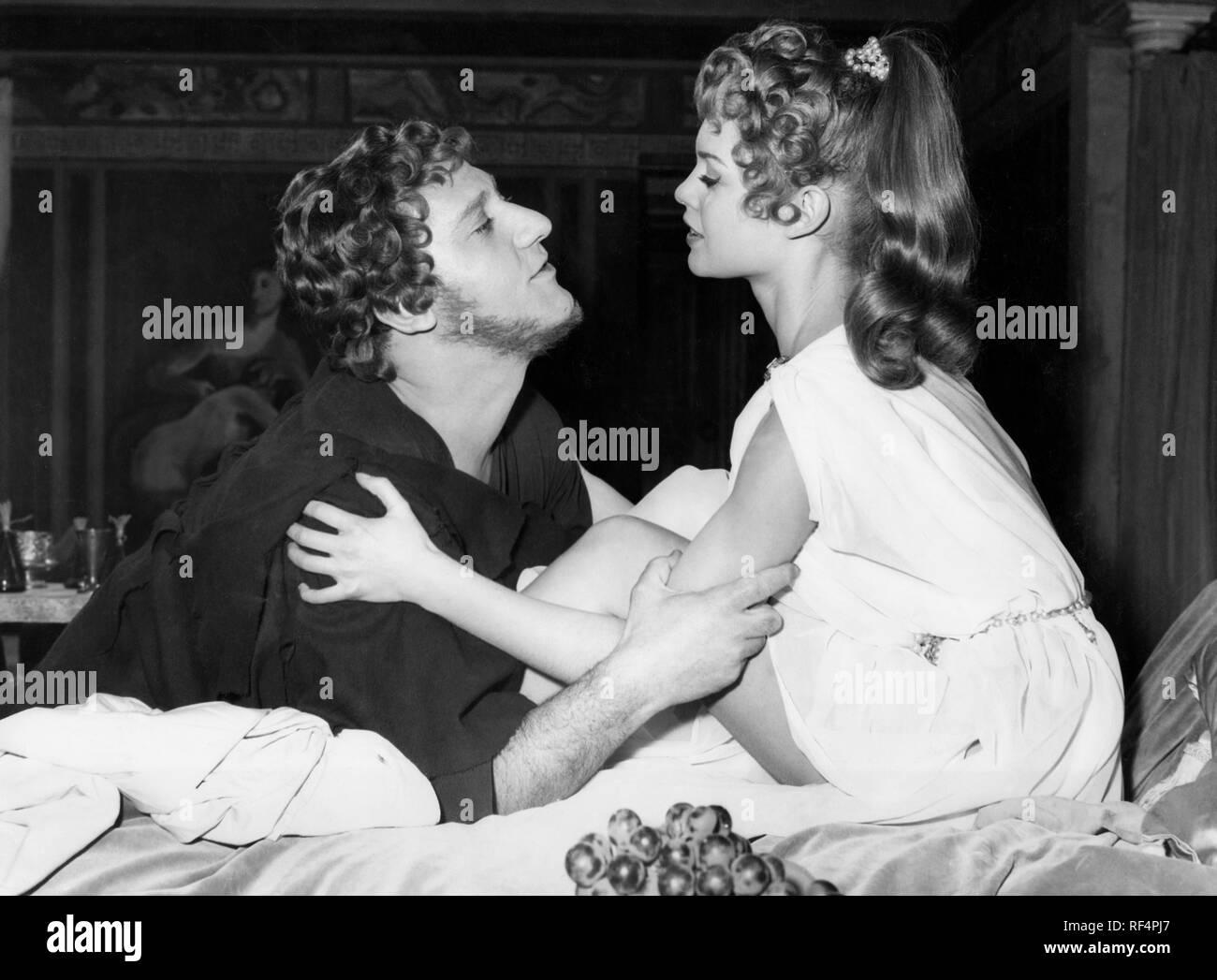 alberto sordi and brigitte bardot, mio figlio nerone, 1956 - Stock Image