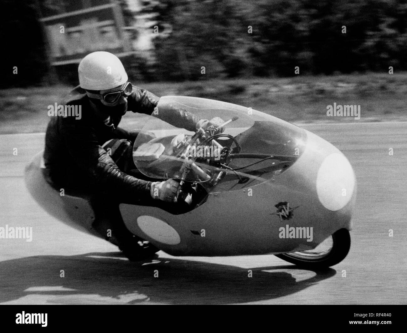 carlo ubbiali, mv agusta 125 cc, 1957 Stock Photo