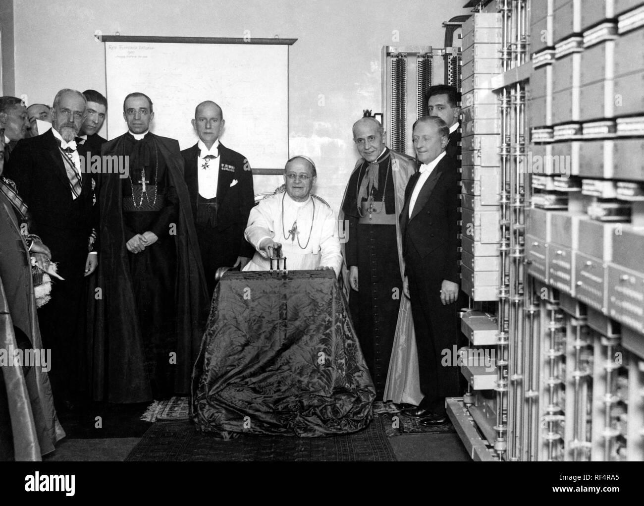 pope pius XI - Stock Image