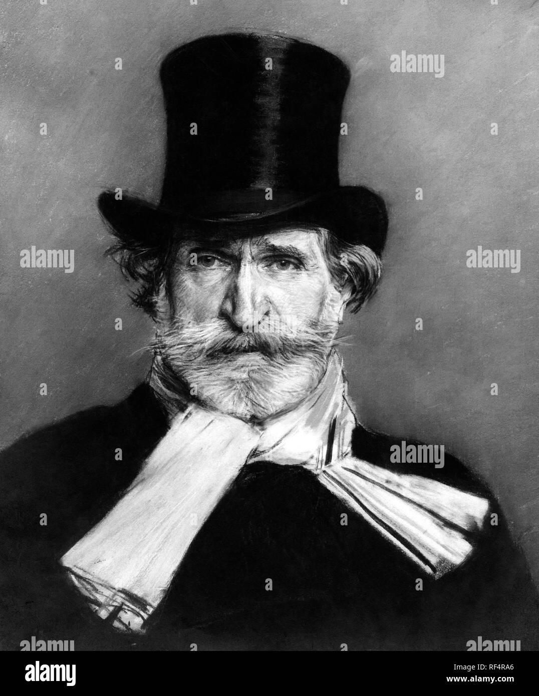 giuseppe verdi, 1813-1901 Stock Photo