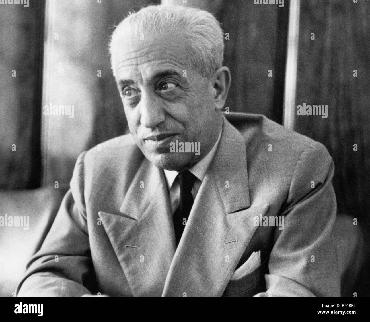 vittorio valletta, president of fiat, 1963 Stock Photo