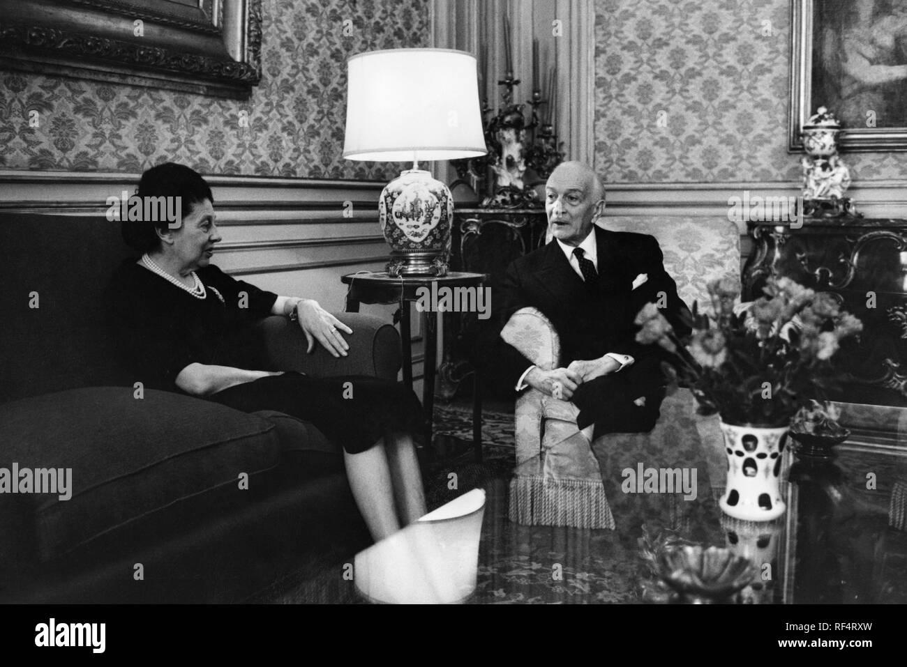 antonio segni president of republic with his wife, 1963 Stock Photo