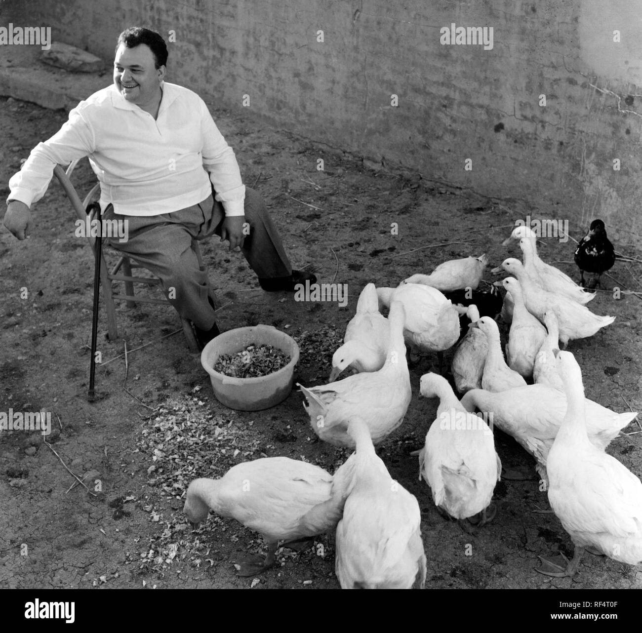 luciano tajoli , italian singer and actor, 1962 Stock Photo