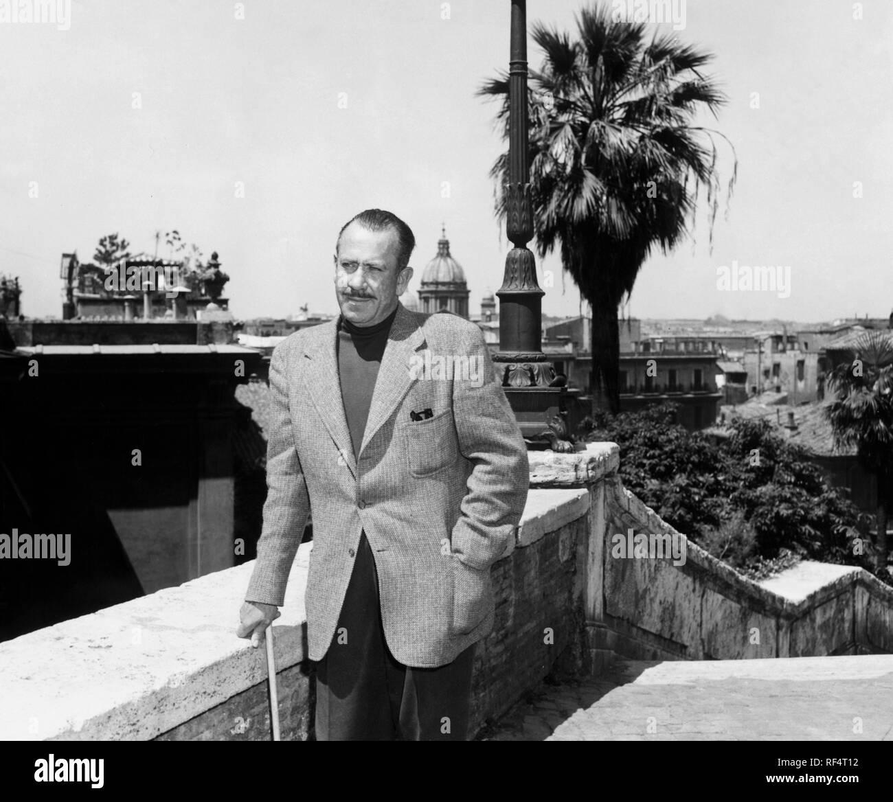 john steinbeck in rome, 1964 Stock Photo