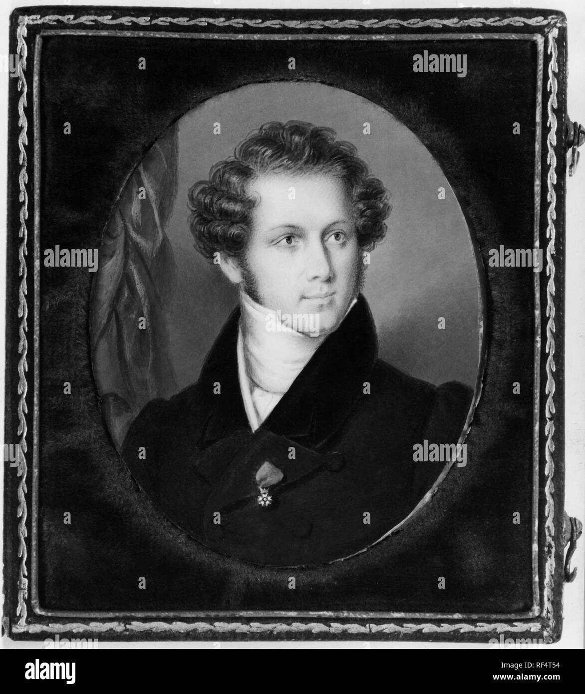 frederic millet miniature of vincenzo bellini, 1830 Stock Photo