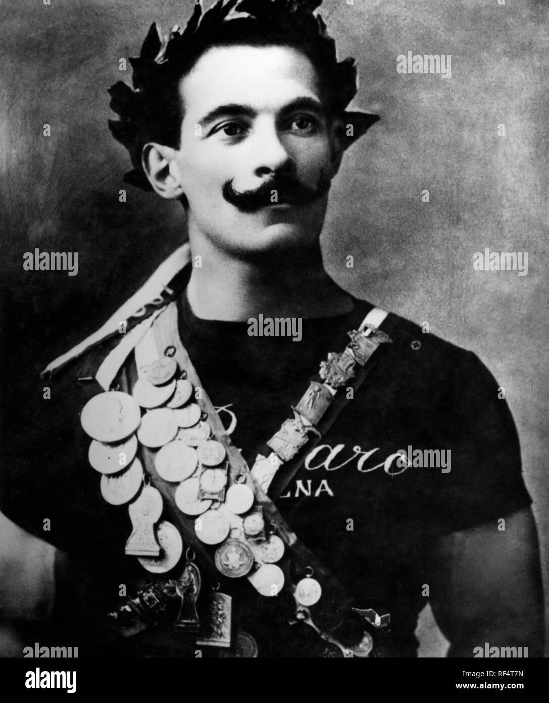 Olympic champion Alberto Braglia, 1912 Stock Photo